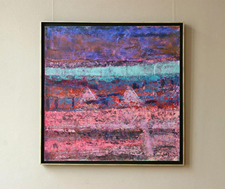 Martyna Merkel : Landscape with purple : Oil on Canvas