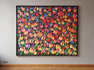 Beata Murawska : Field of tulips : Oil on Canvas