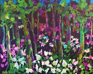 Beata Murawska : In the park : Oil on Canvas