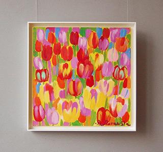 Beata Murawska : Positive tulips : Oil on Canvas