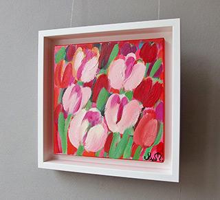 Beata Murawska : Subtle tulips : Oil on Canvas
