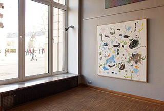 Kalina Horoń : Break between two pieces : Mixed media on canvas