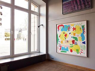 Kalina Horoń : It's yellow and something : Mixed media on canvas