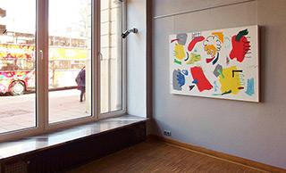 Kalina Horoń : Joyful landscape : Mixed media on canvas