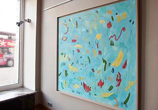 Kalina Horoń : Morning in the tropics : Mixed media on canvas
