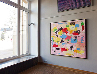 Kalina Horoń : Pink mirage : Mixed media on canvas