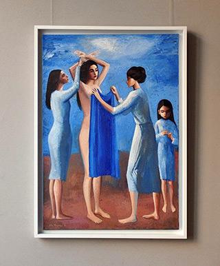 Katarzyna Karpowicz : Blue dedicated to Nadia Murad : Oil on Canvas
