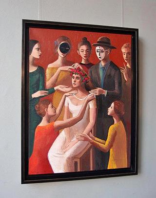 Katarzyna Karpowicz : Flower Wreath : Oil on Canvas