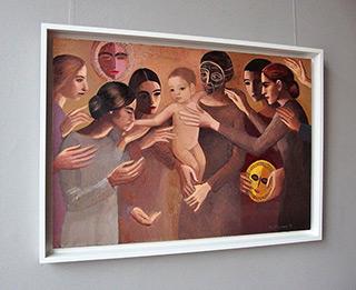 Katarzyna Karpowicz : Kiss the baby : Oil on Canvas