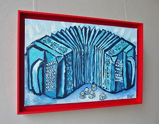 Krzysztof Kokoryn : Bandonion and dice : Oil on Canvas