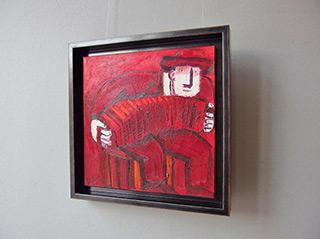 Krzysztof Kokoryn : Carmine bandeon player : Oil on Canvas