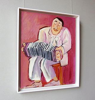 Krzysztof Kokoryn : Pink bandeon player : Oil on Canvas