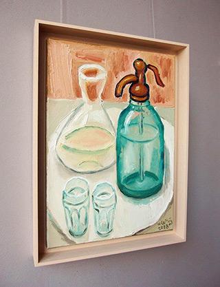 Krzysztof Kokoryn : Soda water old style glass : Oil on Canvas
