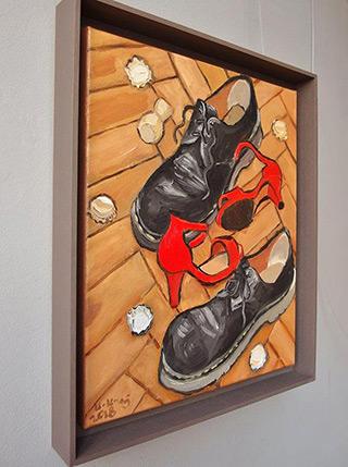 Krzysztof Kokoryn : Still life after the ball : Oil on Canvas