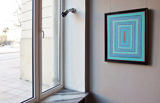 Łukasz Majcherowicz : Balance of blue : Oil on Canvas