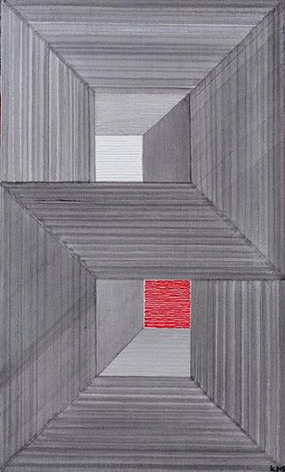 Łukasz Majcherowicz : Polish Landscape : Distemper acrylic on canvas