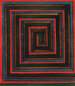 Łukasz Majcherowicz : The Ariadne's Thread : Ink on wooden panel