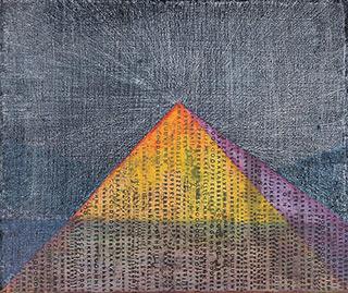 Łukasz Majcherowicz : The Pyramid : Mixed techniques on canvas