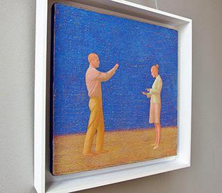 Mikołaj Kasprzyk : Taking a picture : Oil on Canvas