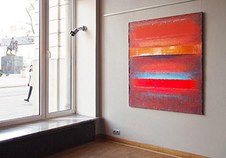 Sebastian Skoczylas : Incoming : Acrylicic and mixed media on canvas