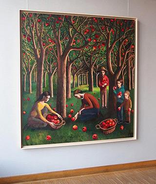 Katarzyna Karpowicz : Apple Orchard : Oil on Canvas