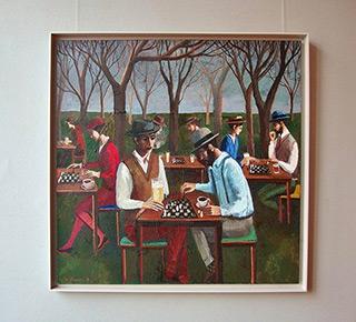 Katarzyna Karpowicz : Beer Garden in Munich : Oil on Canvas