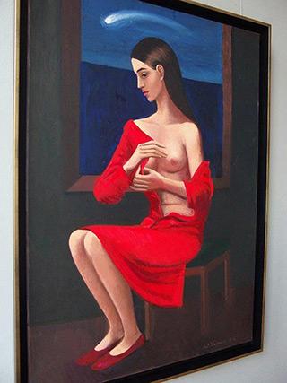 Katarzyna Karpowicz : Comet : Oil on Canvas