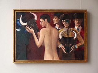 Katarzyna Karpowicz : Man and animal : Oil on Canvas