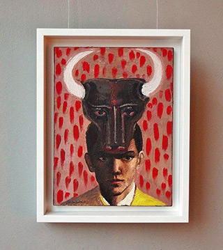 Katarzyna Karpowicz : Man with Bull Mask : Oil on Canvas