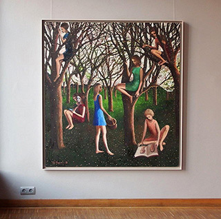 Katarzyna Karpowicz : Orchard in Bloom : Oil on Canvas