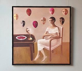 Katarzyna Karpowicz : Do you live alone with a cat : Oil on Canvas