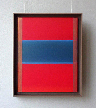 Anna Podlewska : Extinction of red and blue : Oil on Canvas