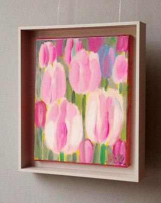 Beata Murawska : Pearly tulips : Oil on Canvas
