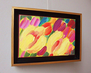 Beata Murawska : Sun kissing tulips : Oil on Canvas