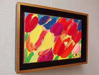Beata Murawska : Tulip kiss : Oil on Canvas