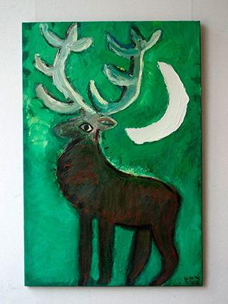 Krzysztof Kokoryn : Deer : Oil on Canvas