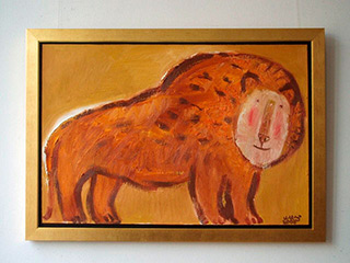 Krzysztof Kokoryn : Lion : Oil on Canvas