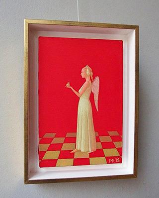 Mikołaj Kasprzyk : Angel with a apple : Oil on Canvas