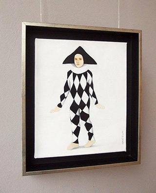 Katarzyna Castellini : Black and white harlequin : Oil on Canvas