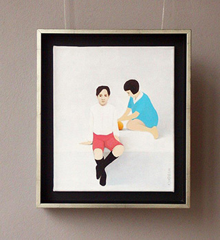 Katarzyna Castellini : In the backyard : Oil on Canvas