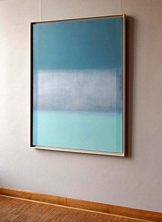 Anna Podlewska : Fields of blue : Oil on Canvas