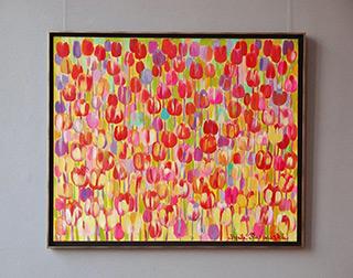 Beata Murawska : Spring tulips : Oil on Canvas