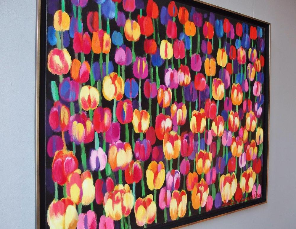 Beata Murawska : Tulips at night