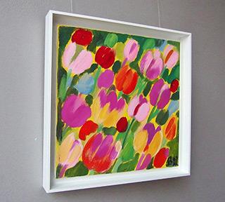 Beata Murawska : Tulips from the meadow : Oil on Canvas