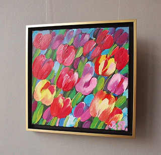 Beata Murawska : Tulips from the middle of summer : Oil on Canvas
