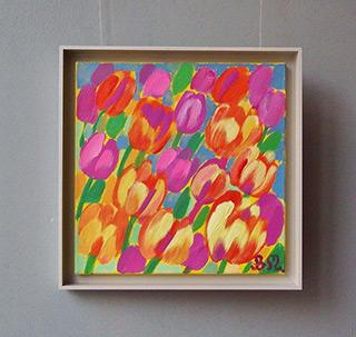 Beata Murawska : Tulips in the morning : Oil on Canvas