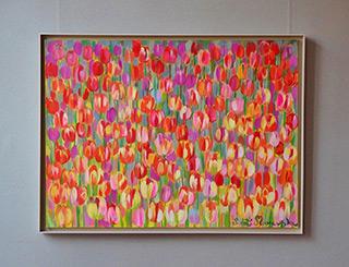 Beata Murawska : Tulips with a bit of gray : Oil on Canvas