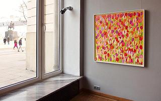 Beata Murawska : Yellow tulips : Oil on Canvas