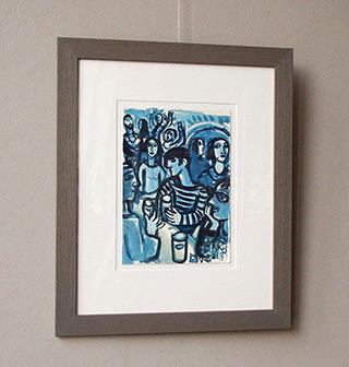 Krzysztof Kokoryn : Blue bar : Watercolour on paper