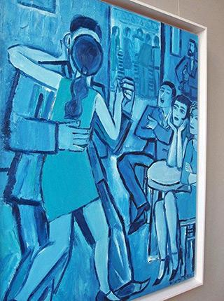 Krzysztof Kokoryn : Blue dances : Oil on Canvas